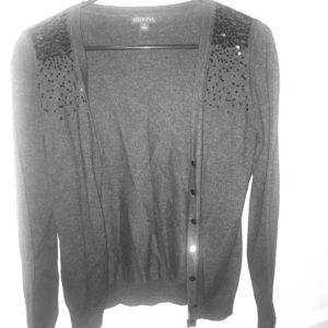Woman's Grey Glittery Cardigan